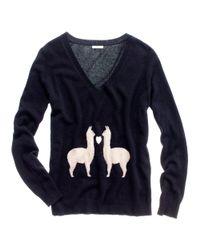 Madewell | Black Llama Love Sweater | Lyst