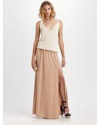 Rachel Zoe - Natural Venessa Silk Twill Maxi Skirt - Lyst