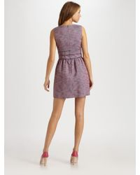 RED Valentino | Pink Tweed Dress | Lyst