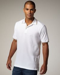 Robert Graham | White Embroidered Polo T-shirt for Men | Lyst