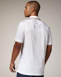 Robert Graham - White Embroidered Polo T-shirt for Men - Lyst