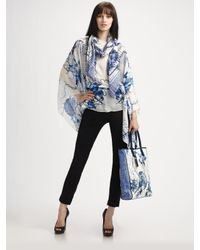 Roberto Cavalli | Blue Tote, Caftan, and Scarf Set | Lyst