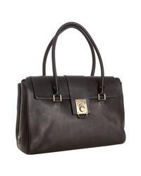 Tod's | Black Leather Fleur Shoulder Bag | Lyst
