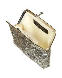 TOPSHOP - Metallic Silver Glitter Clasp Purse - Lyst