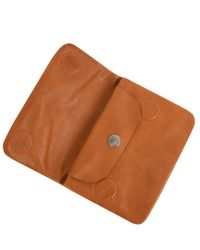 Ally Capellino | Brown Tan Bunty Leather Coin Purse | Lyst