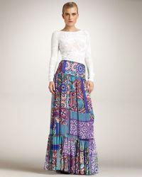 Blumarine | Multicolor Printed Maxi Skirt | Lyst