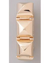 CC SKYE - Metallic Gold Stud Hinged Bracelet - Lyst