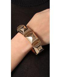 CC SKYE Metallic Gold Stud Hinged Bracelet
