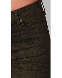 Citizens of Humanity - Green Mandy Snake Print Skinny Jeans - Lyst