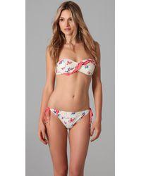 Ella Moss - Multicolor Flora Bandeau Bikini Top - Lyst