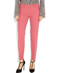 Emilio Pucci   Pink Wool and Silk-blend Twill Straight-leg Pants   Lyst