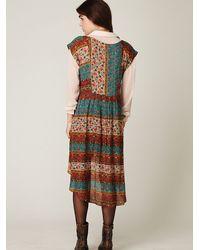 Free People - Multicolor Coastal Tectonics Dress - Lyst