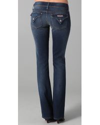 Hudson Jeans Blue Beth Baby Boot Cut Low Rise Jean in Worthington