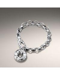 John Hardy | Metallic Link Bracelet with Doughnut Clasp | Lyst