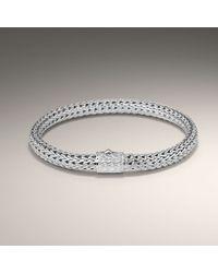 John Hardy | Metallic Small Rhodium Plated Bracelet | Lyst