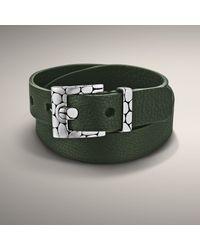 John Hardy | Green Leather Bracelet for Men | Lyst