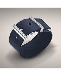 John Hardy | Blue Leather Buckle Bracelet for Men | Lyst