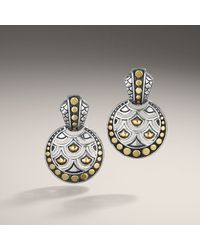 John Hardy - Metallic Round Drop Earrings - Lyst