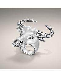 John Hardy - Metallic Bull Head Ring for Men - Lyst