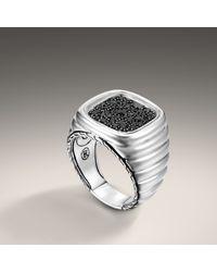 John Hardy - Black Square Ring for Men - Lyst