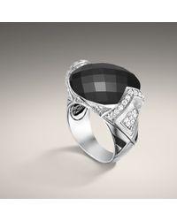 John Hardy | Black Oval Ring | Lyst