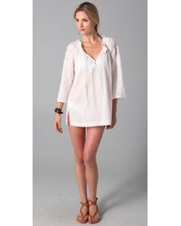Joie | White A La Plage Tesha Tunic Cover Up | Lyst