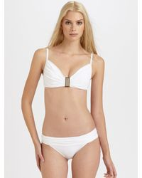 La Blanca | White Ruched Bikini Top | Lyst