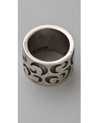 Low Luv by Erin Wasson Metallic Cigar Band Ring