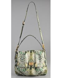Marc By Marc Jacobs - Green Supersonic Snake Printed Lil Ukita Satchel - Lyst