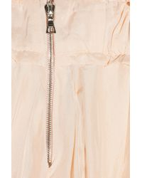 Nina Ricci | Pink Flounced Silk Skirt | Lyst