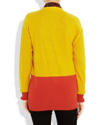 Sonia by Sonia Rykiel | Yellow Cotton and Cashmere-blend Cardigan | Lyst