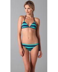 Splendid | Blue Marcel Stripe Reversible Bikini Top | Lyst