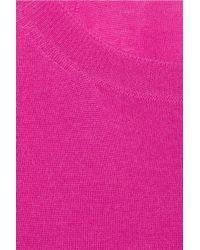 Stella McCartney - Purple Fine-knit Wool Jumpsuit - Lyst