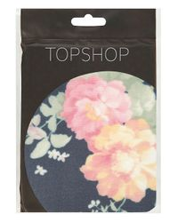 TOPSHOP - Black Grunge Floral Tights - Lyst