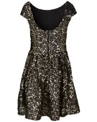 TOPSHOP - Black Gold Cluster Sequin Prom Dress By Dress Up - Lyst