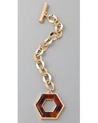 Tory Burch Metallic Hexagon Toggle Bracelet