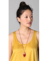 Tuleste - Red Owl Pendant Necklace - Lyst