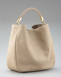 Saint Laurent | Natural Stingray-handle Roady Hobo, Large | Lyst