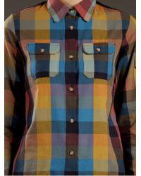 A.P.C. Multicolor Apc Madras Check Shirt with 2 Pocket Detail