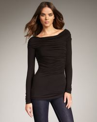 Bailey 44 | Black Ruched Jersey Top | Lyst
