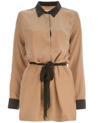 Equipment   Brown Silk Shirt Dress   Lyst