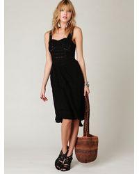 Free People | Black Victorian Dreams Dress | Lyst