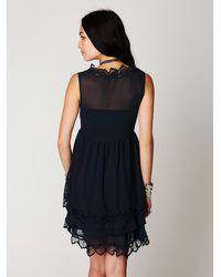 Free People | Black Crafty Beauty Dress | Lyst