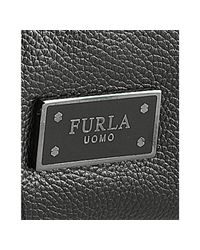 Furla - Black Onyx Leather London Bandoliera Messenger Bag for Men - Lyst