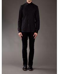 Givenchy Black Zip Shoulder Shirt for men