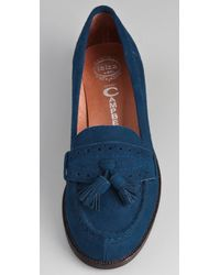Jeffrey Campbell | Blue College Suede Loafers | Lyst