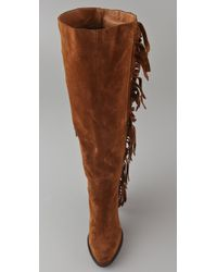 Jeffrey Campbell - Brown Houston Fringe Boots - Lyst