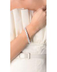 Kenneth Jay Lane Metallic Cushion Cut Tennis Bracelet