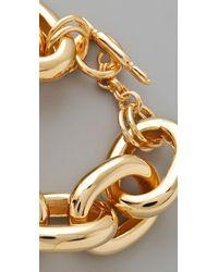 Kenneth Jay Lane - Metallic Gold Large Link Bracelet - Lyst