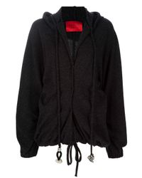 Lanvin Black Wool Hooded Jacket